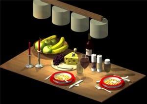 Symbole für die Küche