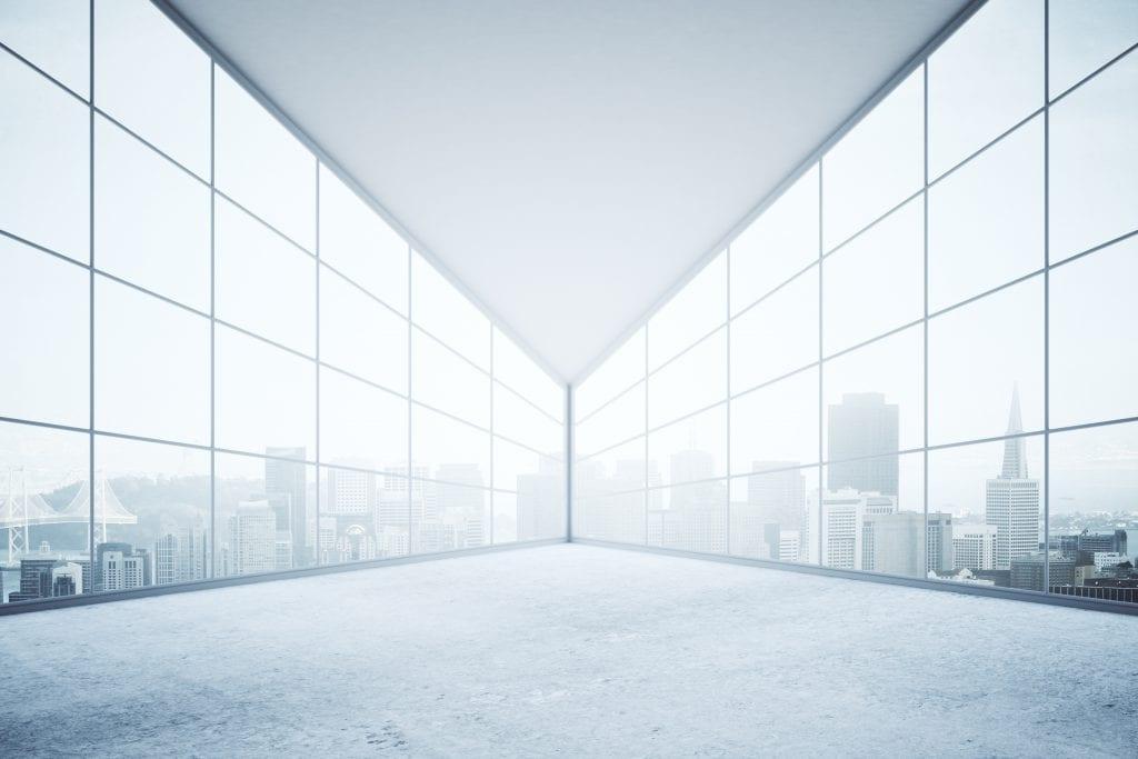 Büroaussicht Architektur 3D-Rendering