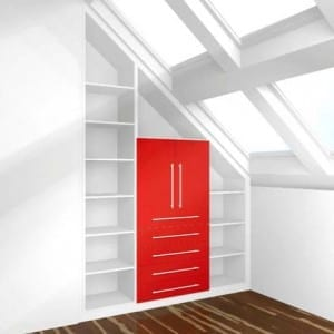 Cabinet in Attic Space