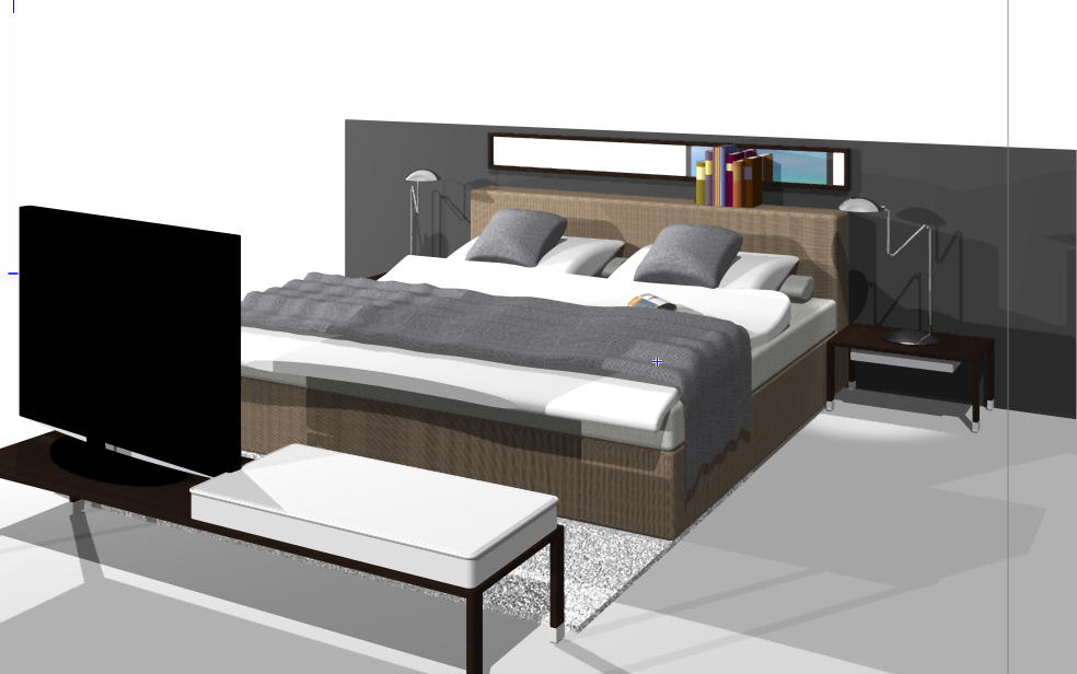 Bed Vectorworks : Herrenzimmer from pixelrz.com size 984 x 616 jpeg 56kB