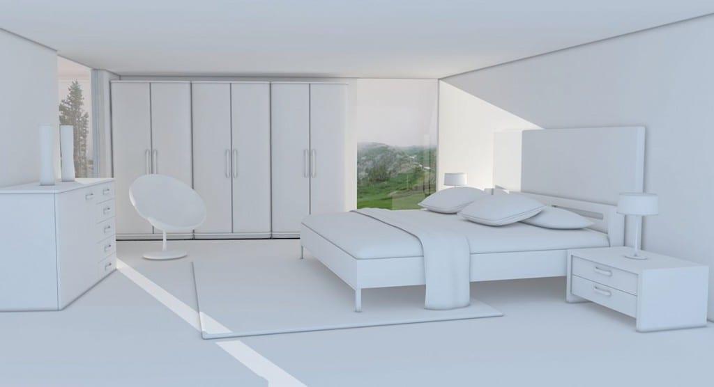 Schlafzimmer-weiss