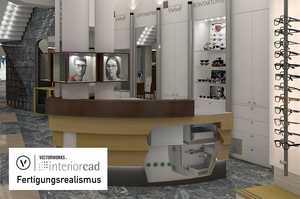 interiorcad-Fertigungsrealismus-Optiker