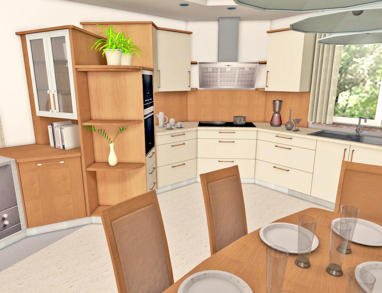 Kitchen construction design and layout -  Kitchen Design Interiorcad For Vectorworks